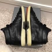 Prada Mens Black Leather High Top Sneakers SZ 38.5 Lust4Labels 6