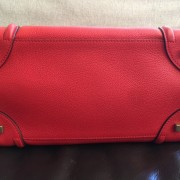 Celine Classic Red Leather Mini Luggage Tote Lust4Labels 1