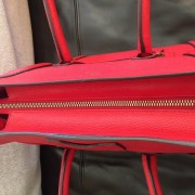 Celine Classic Red Leather Mini Luggage Tote Lust4Labels 10