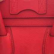 Celine Classic Red Leather Mini Luggage Tote Lust4Labels 14