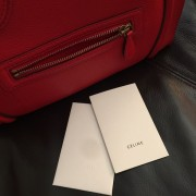 Celine Classic Red Leather Mini Luggage Tote Lust4Labels 18