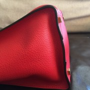Celine Classic Red Leather Mini Luggage Tote Lust4Labels 2
