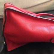 Celine Classic Red Leather Mini Luggage Tote Lust4Labels 3