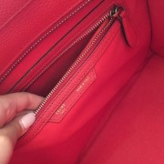 Celine Classic Red Leather Mini Luggage Tote Lust4Labels 5