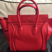 Celine Classic Red Leather Mini Luggage Tote Lust4Labels 7