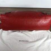 Balenciaga Classic Lipstick Red Lamb Leather City Bag Purse Lust4Labels 3