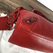 Balenciaga Classic Lipstick Red Lamb Leather City Bag Purse Lust4Labels 4