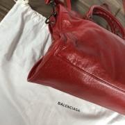 Balenciaga Classic Lipstick Red Lamb Leather City Bag Purse Lust4Labels 6