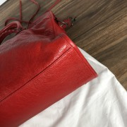 Balenciaga Classic Lipstick Red Lamb Leather City Bag Purse Lust4Labels 7