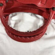 Balenciaga Classic Lipstick Red Lamb Leather City Bag Purse Lust4Labels 8