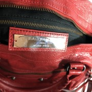 Balenciaga Classic Lipstick Red Lamb Leather City Bag Purse Lust4Labels 9