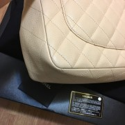 Chanel Classic Jumbo Beige Caviar Leather Shoulder Bag Purse SHW Lust4Labels 21