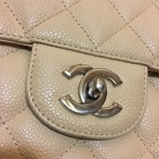 Chanel Classic Jumbo Beige Caviar Leather Shoulder Bag Purse SHW Lust4Labels 4