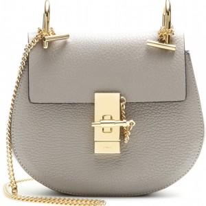 Chloe Drew Motty Grey Leather Small Shoulder Bag GHW Lust4Labels 2