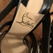 Christian Louboutin Black Tchicaboum 100 Stud Spike Strappy Heels SZ 37.5 Lust4Labels 2
