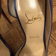 Christian Louboutin Blue Patent Leather Iriza 120 D orsay Pumps SZ 38 Lust4Labels 2