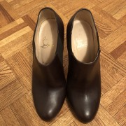 Christian Louboutin Brown Leather Lastoto 85 Ankle Boots SZ 37.5 Lust4Labels 1