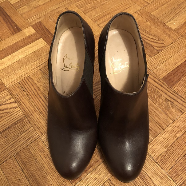 c0c8c982c2a $1000 Christian Louboutin Brown Leather Lastoto Ankle Boots SZ 37.5