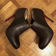 Christian Louboutin Brown Leather Lastoto 85 Ankle Boots SZ 37.5 Lust4Labels 3