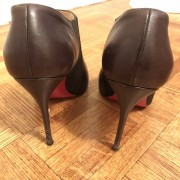 Christian Louboutin Brown Leather Lastoto 85 Ankle Boots SZ 37.5 Lust4Labels 4