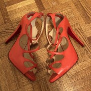 Christian Louboutin Coral Strappy Leather Heels Sandals SZ 37.5 Lust4Labels 2