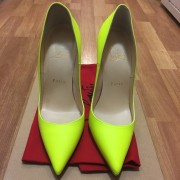 Christian Louboutin So Kate Classic Yellow Matte Leather 120 Pumps SZ 36.5 Lust4Labels 1