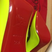 Christian Louboutin So Kate Classic Yellow Matte Leather 120 Pumps SZ 36.5 Lust4Labels 10