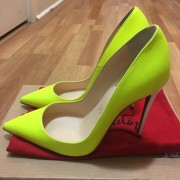 Christian Louboutin So Kate Classic Yellow Matte Leather 120 Pumps SZ 36.5 Lust4Labels 3