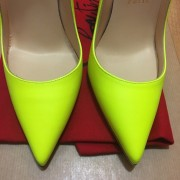 Christian Louboutin So Kate Classic Yellow Matte Leather 120 Pumps SZ 36.5 Lust4Labels 8