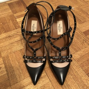 Valentino Black Nude Rockstud Love Latch Pumps SZ 37.5 Lust4Labels 1