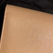 Yves Saint Laurent Nude Beige Leather Small Kate Clutch Bag GHW Lust4Labels 10