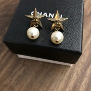 Chanel Classic CC Logo Gold Star Pearl Stud Earrings Lust4Labels 1