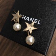 Chanel Classic CC Logo Gold Star Pearl Stud Earrings Lust4Labels 4