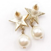 Chanel Classic CC Logo Gold Star Pearl Stud Earrings Lust4Labels 6
