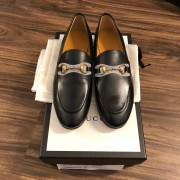 Gucci Betis Glamour Nero Jordan Style Black Leather Loafers Shoes SZ 37 Lust4Labels 1