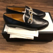 Gucci Betis Glamour Nero Jordan Style Black Leather Loafers Shoes SZ 37 Lust4Labels 3