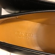 Gucci Betis Glamour Nero Jordan Style Black Leather Loafers Shoes SZ 37 Lust4Labels 4