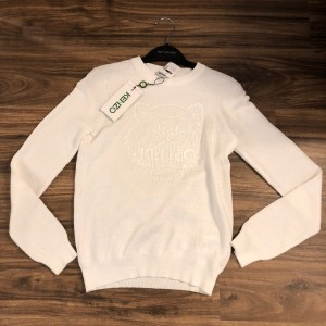 Kenzo White Pullover Tiger Sweater XS Lust4Labels 1