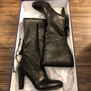 Stuart Weitzman Black Leather HIghland Thigh High OTK Boots SZ 7.5 38 Lust4Labels 1