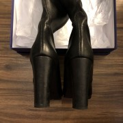 Stuart Weitzman Black Leather HIghland Thigh High OTK Boots SZ 7.5 38 Lust4Labels 3