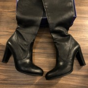Stuart Weitzman Black Leather HIghland Thigh High OTK Boots SZ 7.5 38 Lust4Labels 4