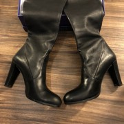 Stuart Weitzman Black Leather HIghland Thigh High OTK Boots SZ 7.5 38 Lust4Labels 5