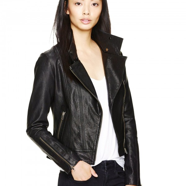 Mackage for Aritzia Classic Black Leather Moto Biker Kenya Jacket XXS Lust4Labels 8