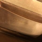 Yves Saint Laurent YSL Logo Nude Beige Patent Leather Belle Du Jour Clutch Bag Purse Lust4Labels 6