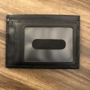 Burberry Classic Black Grey Coated Canvas Leather Novacheck Cardholder Wallet Lust4Labels 2