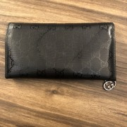Gucci Classic Black Coated Canvas Monogram GG Logo Continental Wallet Lust4Labels 2