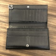 Gucci Classic Black Coated Canvas Monogram GG Logo Continental Wallet Lust4Labels 3