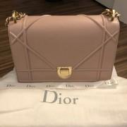 Dior Classic Rose Powder Pink Calf Leather Medium Diorama Bag GHW Lust4Labels 1