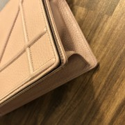 Dior Classic Rose Powder Pink Calf Leather Medium Diorama Bag GHW Lust4Labels 10