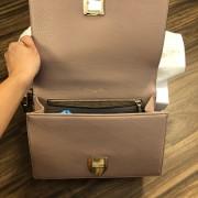 Dior Classic Rose Powder Pink Calf Leather Medium Diorama Bag GHW Lust4Labels 11